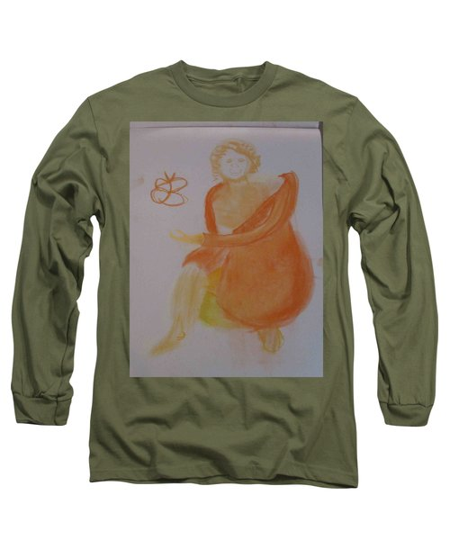 model named Helene three Long Sleeve T-Shirt