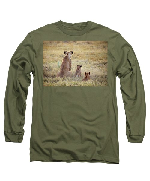 Mom And Cubs Long Sleeve T-Shirt