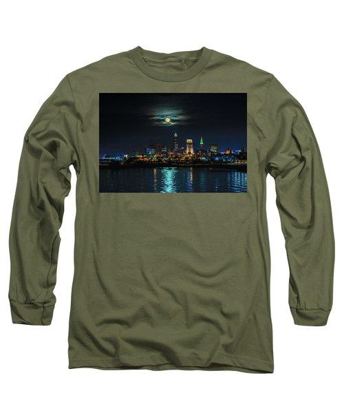 Moon Over Cleveland  Long Sleeve T-Shirt