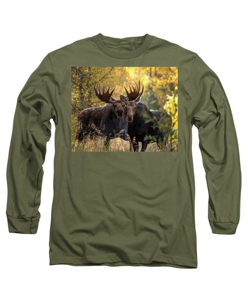 Long Sleeve T-Shirt featuring the photograph Moose Love by Mary Hone