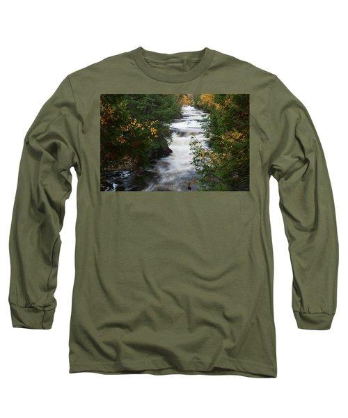 Long Sleeve T-Shirt featuring the photograph Moxie Stream by Rick Hartigan