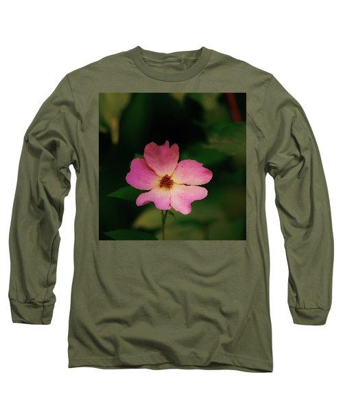 Multi Floral Rose Flower Long Sleeve T-Shirt