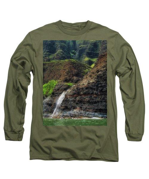 Na Pali Coast Waterfall Long Sleeve T-Shirt