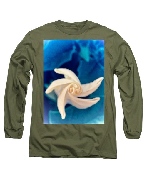 Long Sleeve T-Shirt featuring the photograph Nature's Pinwheel - Sacred Datura by Judy Kennedy