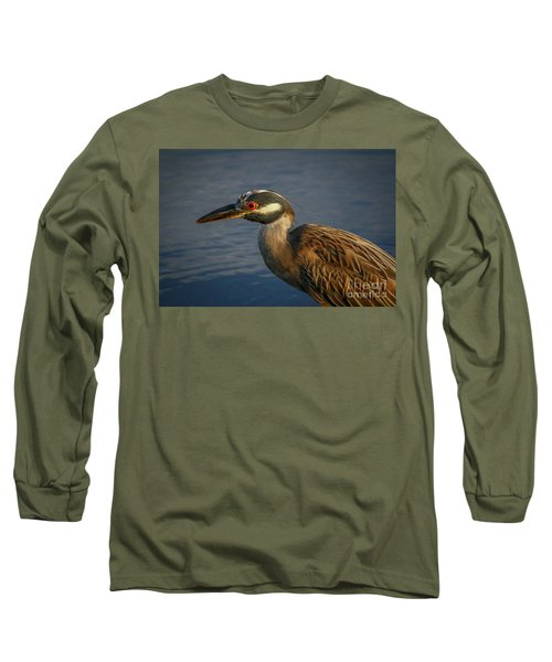 Night Heron Portrait Long Sleeve T-Shirt