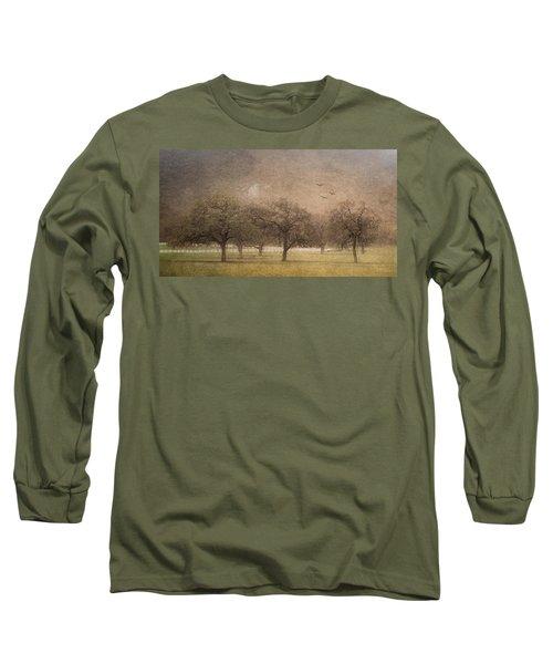 Oak Trees In Fog Long Sleeve T-Shirt