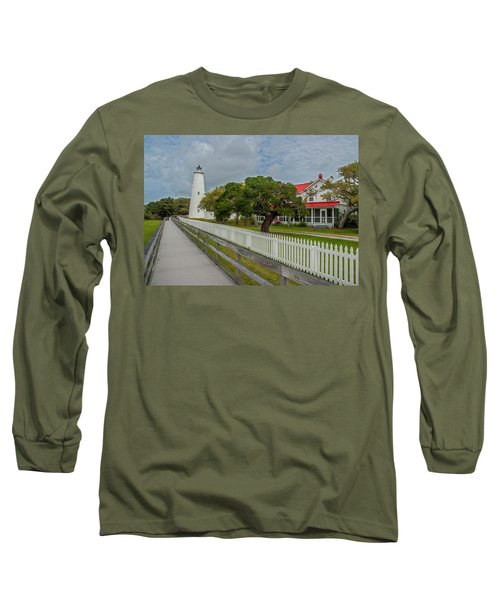 Ocracoke Lighthouse  Long Sleeve T-Shirt