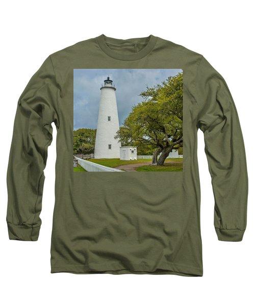 Ocracoke Lighthouse No 2 Long Sleeve T-Shirt