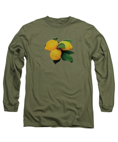 Long Sleeve T-Shirt featuring the photograph Old Gold Lemons by Rockin Docks