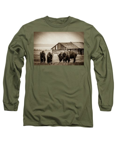 Long Sleeve T-Shirt featuring the photograph Old School by Mary Hone