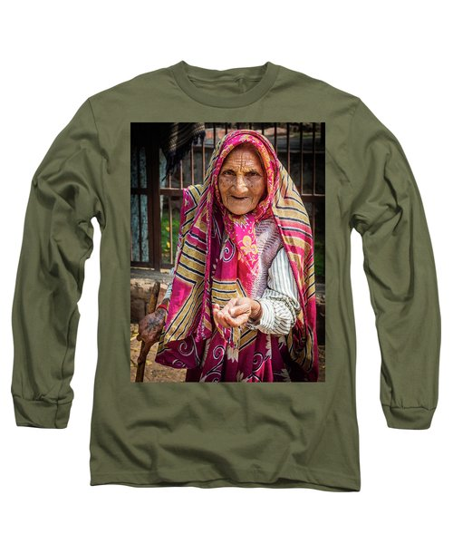 Old Woman Long Sleeve T-Shirt