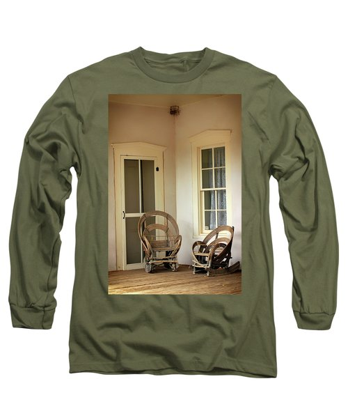 On Doc Woods' Porch Long Sleeve T-Shirt