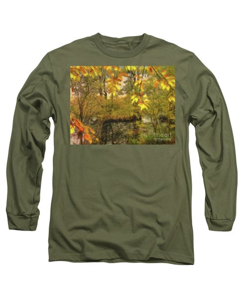 Long Sleeve T-Shirt featuring the photograph Once A Pond A Time by Leigh Kemp
