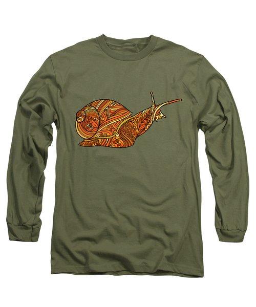 Orange Snail Long Sleeve T-Shirt