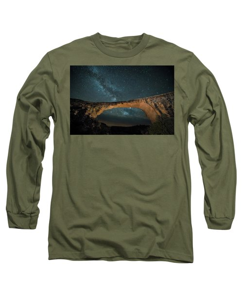 Owachomo Natural Bridge And Milky Way Long Sleeve T-Shirt