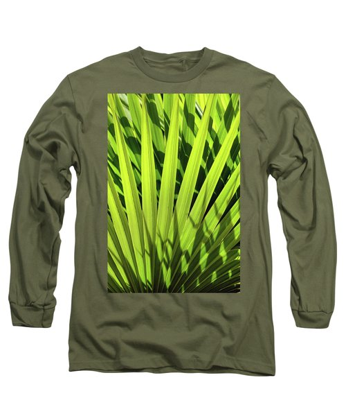 Long Sleeve T-Shirt featuring the photograph Palm Portrait I by Leda Robertson