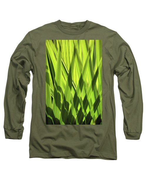 Long Sleeve T-Shirt featuring the photograph Palm Portrait IIi by Leda Robertson
