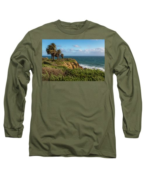 Palm Trees Blowing In The Wind Long Sleeve T-Shirt