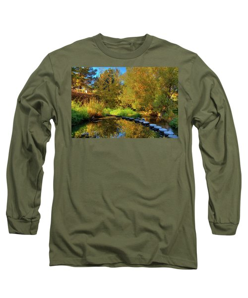 Long Sleeve T-Shirt featuring the photograph Palouse River Reflections by David Patterson