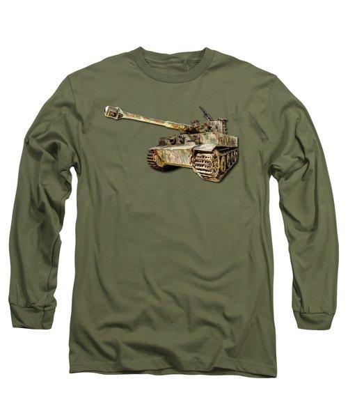 Panzer Vi Tiger Canvas Long Sleeve T-Shirt