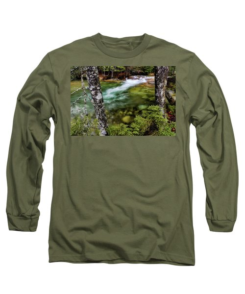 Long Sleeve T-Shirt featuring the photograph Pemigewasset River, Basin Trail Nh by Michael Hubley