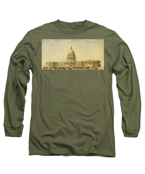Perspective Rendering Of United States Capitol Long Sleeve T-Shirt