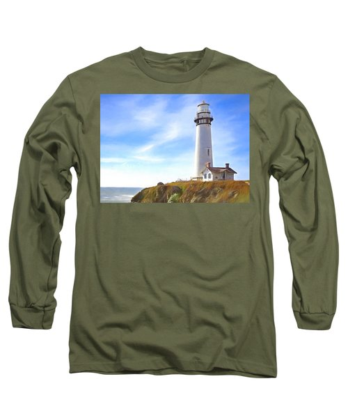 Pigeon Point Lighthouse Ca Long Sleeve T-Shirt