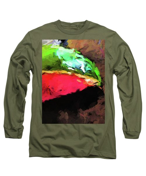 Pink And Green Watermelon Long Sleeve T-Shirt