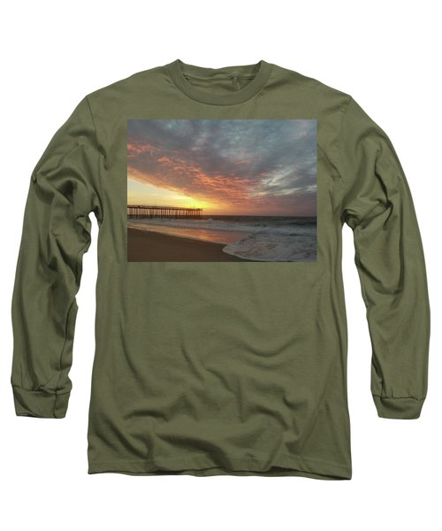 Pink Rippling Clouds At Sunrise Long Sleeve T-Shirt