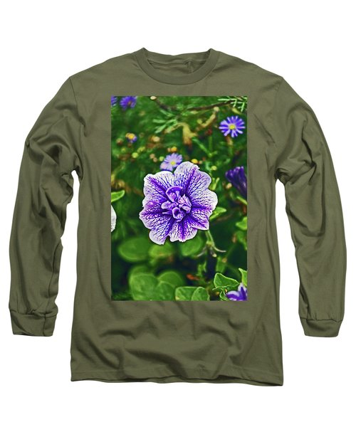 Pitlochry.  Purple Petunia. Long Sleeve T-Shirt