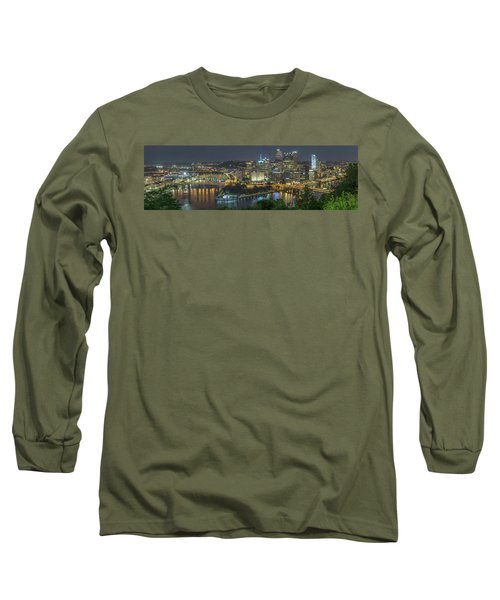 Long Sleeve T-Shirt featuring the photograph Pittsburgh Lights by David R Robinson