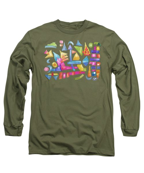 Play In Pastel Ink Long Sleeve T-Shirt
