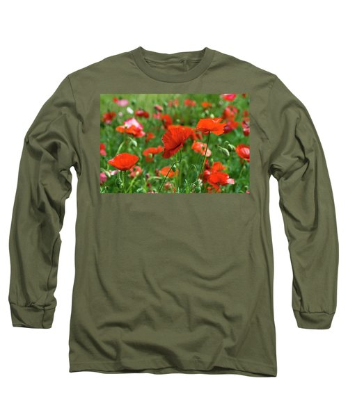 Poppies In The Field Long Sleeve T-Shirt