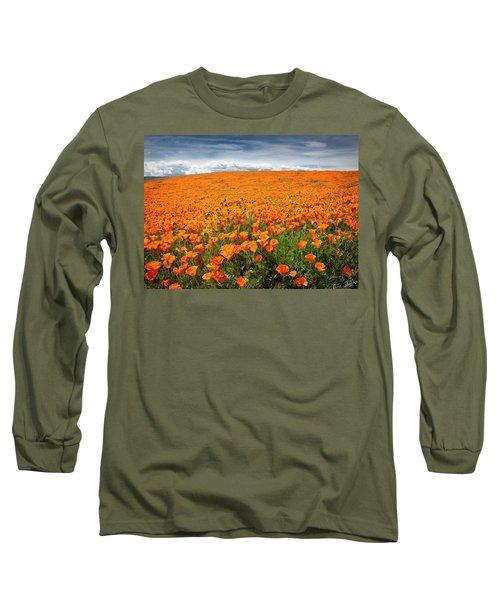 Poppy Fields Forever Long Sleeve T-Shirt
