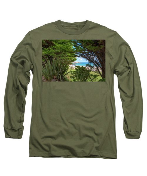 Porthminster Behind The Trees - St Ives Cornwall Long Sleeve T-Shirt
