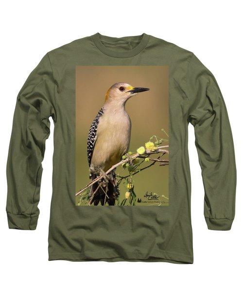 Portrait Of A Golden-fronted Woodpecker Long Sleeve T-Shirt