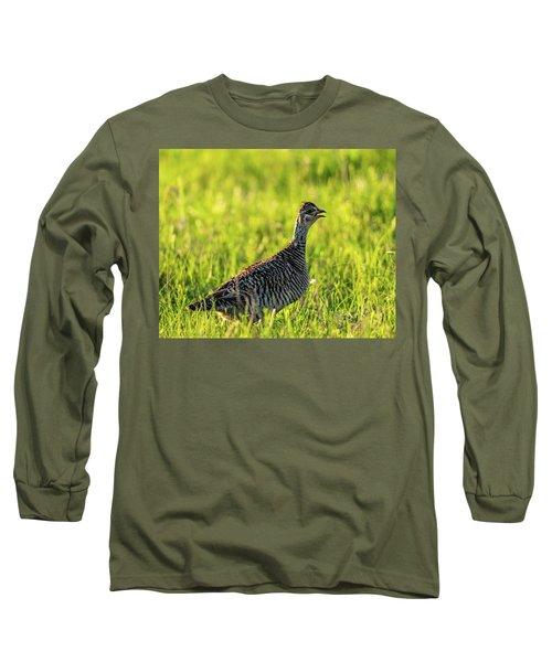 Prairie Chicken Hen Long Sleeve T-Shirt