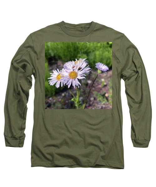Purple Fleabane 5 Long Sleeve T-Shirt