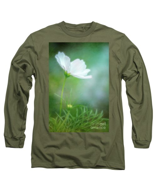 Radiant White Cosmos In The Evening Light Long Sleeve T-Shirt