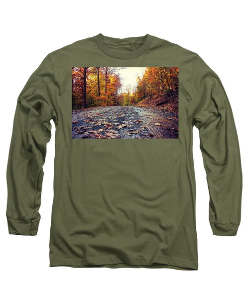 Rainy Fall Roads Long Sleeve T-Shirt