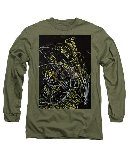 Rays Of The Sun. Calligraphic Abstract Long Sleeve T-Shirt