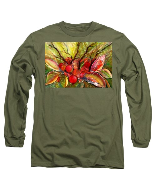 Red Autumn Berries Long Sleeve T-Shirt