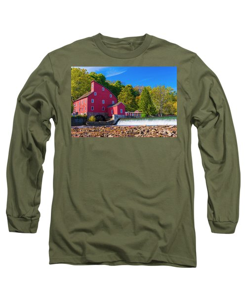 Long Sleeve T-Shirt featuring the photograph Red Mill Photograph by Louis Dallara