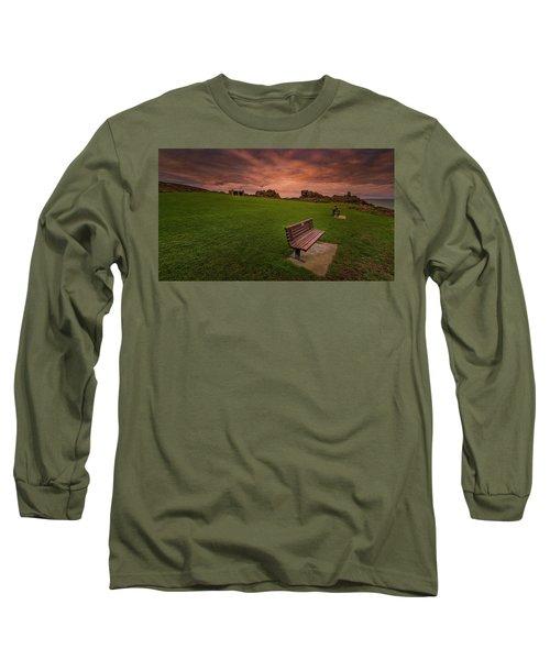 Relaxing At St Ives Cornwall Long Sleeve T-Shirt
