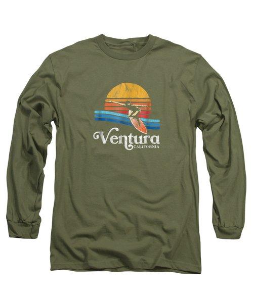 Retro Ventura California Eighties Beach Bum Surfer T-shirt Long Sleeve T-Shirt