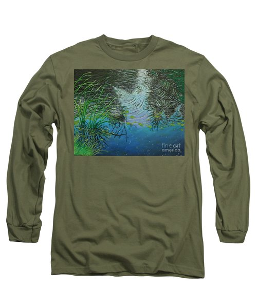River ...ripples And Reeds Long Sleeve T-Shirt