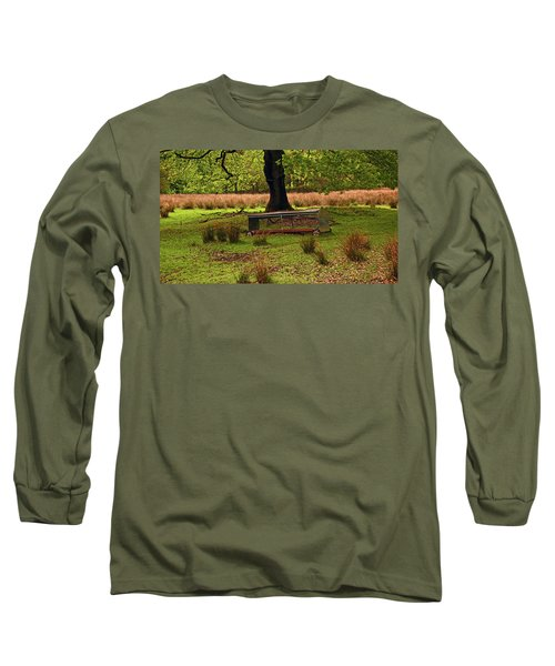 Rivington. Terraced Gardens. Feeding Trough. Long Sleeve T-Shirt