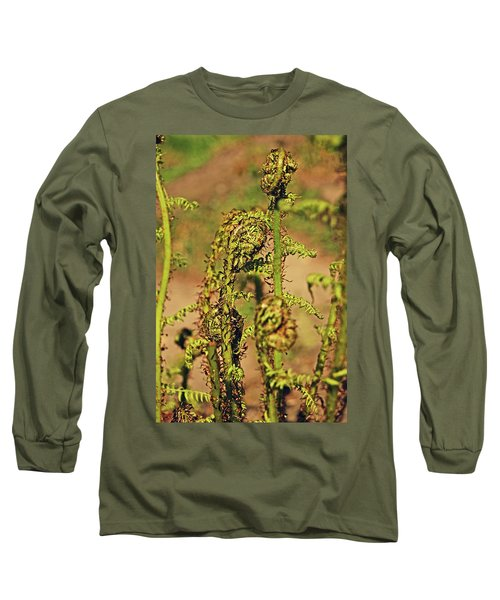 Rivington Terraced Gardens. Fern Frond. Long Sleeve T-Shirt