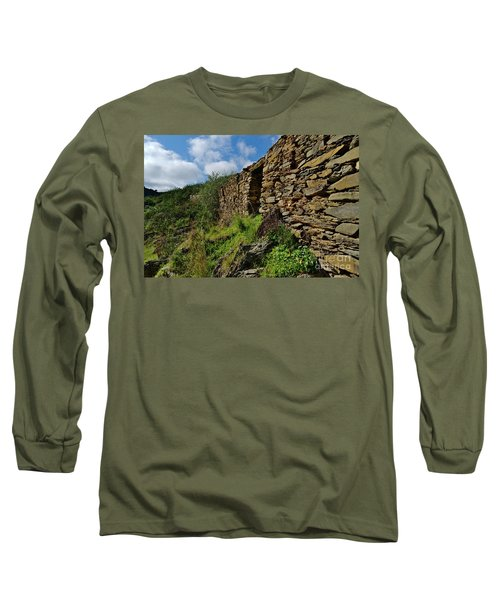 Ruins Of A Schist Cottage In Alentejo Long Sleeve T-Shirt