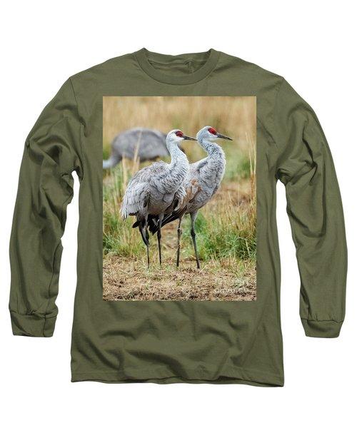 Sandhill Crane Pair Long Sleeve T-Shirt